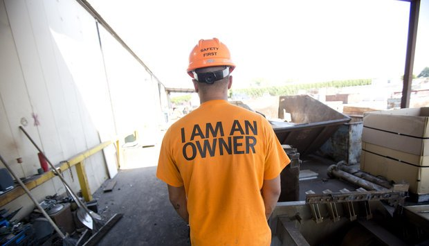 Employees empowered as owners.